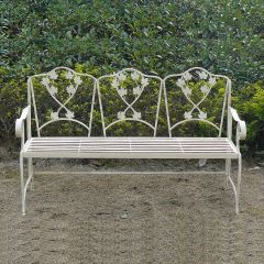 Leaf Garden Bench, Iron Vintage Bench, Garden Furniture, Summer