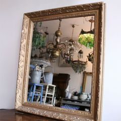 Ornate Gold Wooden Framed Mirror