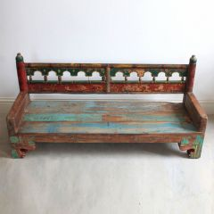 Painted Wooden Bench