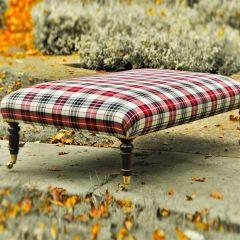 Red Black & Cream Footstool