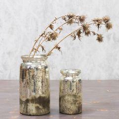 Rustic Silver Vase Tabia Mercury