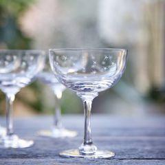 Set of 6 'Stars' Champagne Glasses