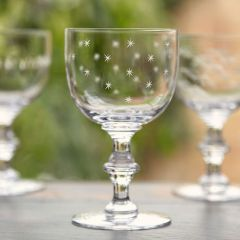 Set of 6 'Stars' Wine Goblets
