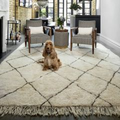 Atlas IV Vintage Chunky Knot Wool Rug with Relaxed Abstract Diamond Motif