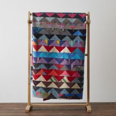 Multicoloured Triangles Throw