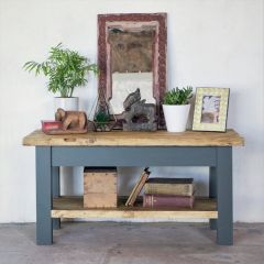 Rustic Farmhouse TV Stand - One Shelf