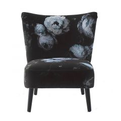 Upholstered Floral Patterned Chair