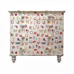 Vintage Upcycled ABC Children's Chest of Drawers