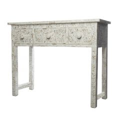 Classic White Mother of Pearl Dressing Table