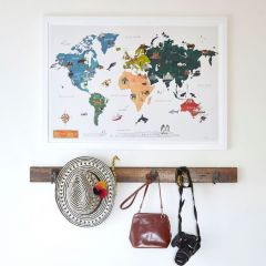 'World Map' Signed Print
