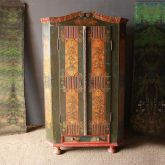 18th cent. Marriage Armoire with Flowers