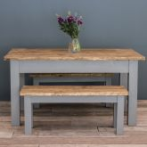 4ft Farmhouse Table with Turned Legs & VARIOUS COLOUR OPTIONS
