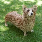 Willow Sculpture Corgi