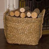 Bullrush Square Log Baskets