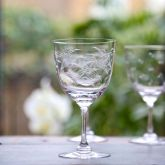 Set of 6 'Ferns' Wine Glasses