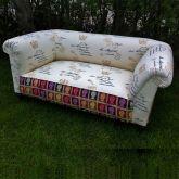 Edwardian Drop Arm Chesterfield Sofa c1910 Main