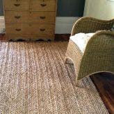 Woven Rush natural grass rug