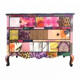 French Patchwork Vintage Upcycled Chest of Drawers