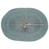 Jute Placemats Silky Moonstone Grey Fibre Dining Serving Mats Tableware