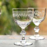 Set of 6 'Ovals' Wine Goblets