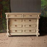 Antique Decorative Painted Pine Chest