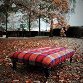 Red Tartan Footstool