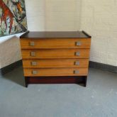 Rosewood Chest of Drawers with Aluminium Handles