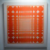 Vera 'Orange Dots' Vintage Framed Scarf