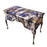 Vintage Upcycled Leopard Desk