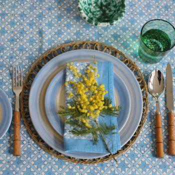 green berry block print tablecloth Sarah K