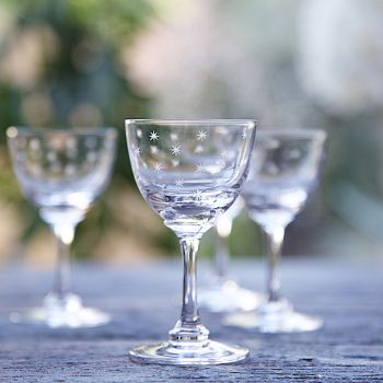Set of 6 'Stars' Liqueur Glasses