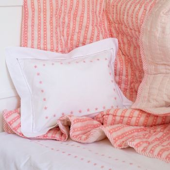 Children's Pink Star Reversible Cotton Quilt Sarah K