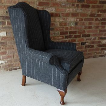 Wing Back Chair Antique 2 Chic