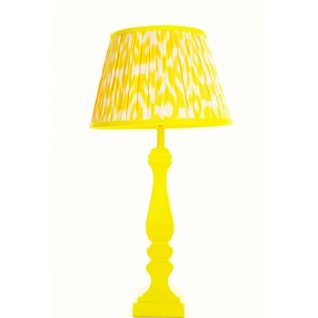 Melodi Horne sunshine yellow ikat lampshade