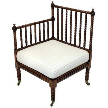 Fine Elm Bobbin Corner Chair
