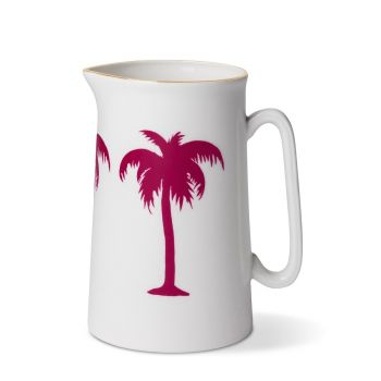 Palm Tree 1 Pint Jug With Gold Rim