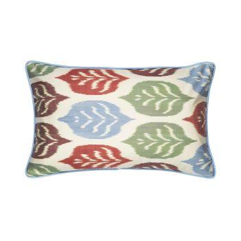 Luxury Rectangle Silk Cushion in Autumnal Tones