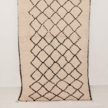 Handwoven Sheep Wool Beni Ourain 'Nadia' Rug