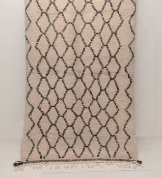 Handwoven Sheep Wool Beni Ourain 'Nahla' Rug