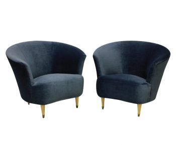 Set of 2 Ico Parisi Cocktail Chairs