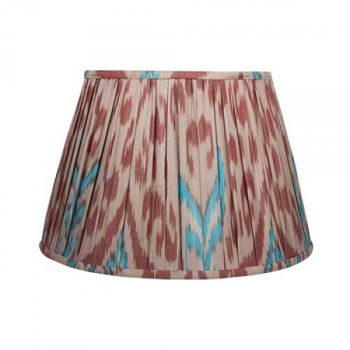 Burgundy and Blue Ikat Lampshade Melodi Horne