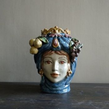 spanish ceramic fruit vase agata treasures