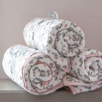 Pink Bunny Children's Cotton Quilt Sarah K