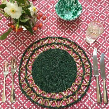 green grass placemat Sarah K