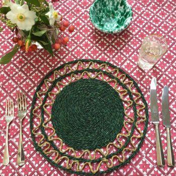 green grass placemat Sarah K
