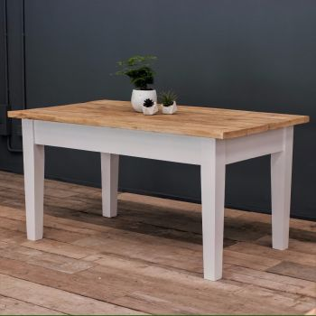 4ft Oak Farmhouse Kitchen Table with Tapered Legs