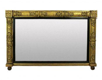 An Overscale 30's French Gilt Wood Sunburst Mirror