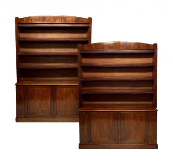 A Pair of Large English Mahogany Bookcases