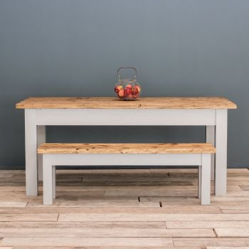 6FT Farmhouse Table with Straight Legs & VARIOUS COLOUR OPTIONS
