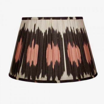 Brown, cream and coral lampshade melodi horne